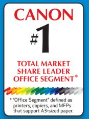 Canon #1 Total Market Share Leader